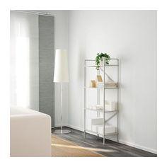 DRAGET Shelf unit, light gray light gray 60x140 cm