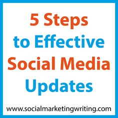 5 Steps to Effective Social Media Updates http://socialmarketingwriting.com/5-steps-to-effective-social-media-updates/