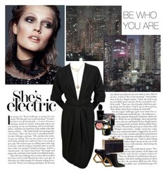 """""""She's electric (@goharkhanoyan)"""" by dezaval ❤ liked on Polyvore featuring Yves Saint Laurent, Louis Vuitton, Elie Saab, Giorgio Armani, Christian Dior, H&M, NARS Cosmetics and vintage"""
