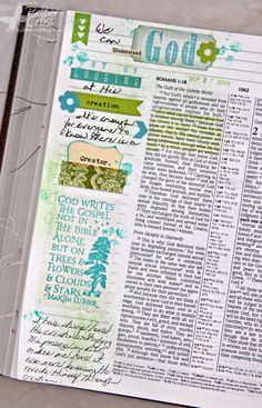 Triple the Scraps: Journaling {Bible} Romans 1:19-20 by Patter Cross.