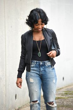 Bomber Jacket, Distressed Jeans, Sweenee Style, Indianapolis style blog,