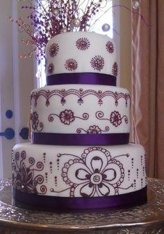 Arabic Mehndi / Henna Wedding Cake By anniecakes01 on CakeCentral.com