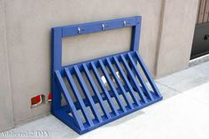 Bike rack painted with the HomeRight Finish Max.http://addicted2diy.com/2015/05/13/simple-diy-bicycle-rack-with-free-plans/