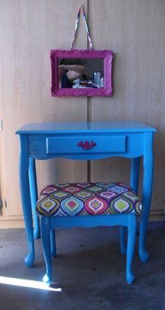 little girl\'s vanity redo | Gourmet Giggles | Pinterest | Vanity ...