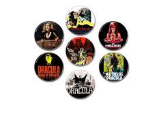Masters of Horror buttons/badges by amphetaminesmall  #draculabuttons #draculabadges #darioargento #pinbacks #slasherfilms