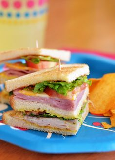 don't really need a recipe, but as a reminder to put club sandwiches on our meal plan sometime.