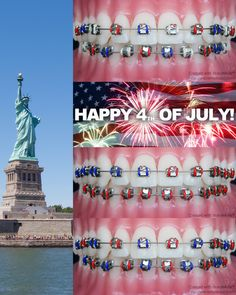 For the proud #Americans #USA #independenceday #fourthofjuly #braces #orthodontics #orthodontist #app #apps #colors #colours #colors #color #app #america #patriot #patriots