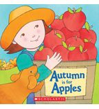 Rhyming: Apples are my favorite snack — all juicy, red, and round. I love how every tasty bite comes with a crunchy sound.  Sparse rhyming text details a child's impressions of a trip to go apple-picking, from the morning flapjacks to the last juicy bite of apple