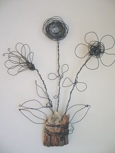Wire flowers, make for mama
