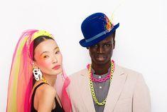 #neonwedding #ivaksenevich #millinery #wedding #weddingstyle #neon #neonkids