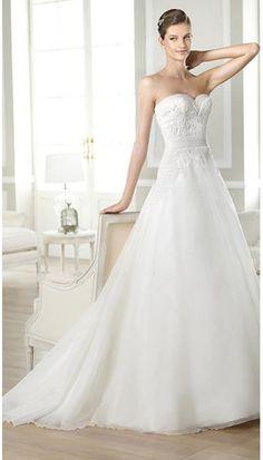 Áčkový střih Zip Přírodní Svatební šaty 2014