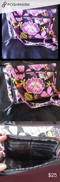 💞Beautiful Vera Bradley Wallet/purse💞 Beautiful Condition and beautiful coloring! Vera Bradley purse with a wallet in the front! 6 credit card slots and a place for cash.  Inside has another zip compartment. Back has a spot for phone! Great little purse!! Happy Shopping💞💞👜👜💵💵 Vera Bradley Bags Crossbody Bags