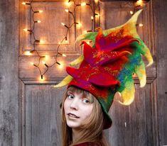 Carnival hat designer hat unique art hat Christmas by filcAlki