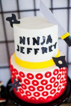 Ninjago Ninja 7th Birthday Party - Kara's Party Ideas - The Place for All Things Party