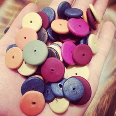 The color palette - hand sculpted polymer clay beads!