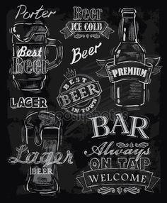 Pobieraj - Kreda piwo — Ilustracja stockowa #33433845