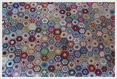 African flower hexagon blanket