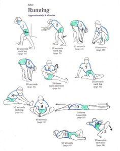 Stretch after a run