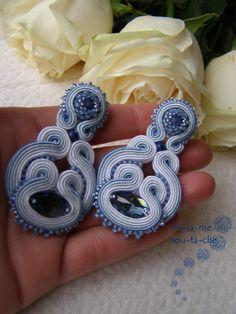 Blue Moon#2 - kolczyki sutasz/ soutache earrings