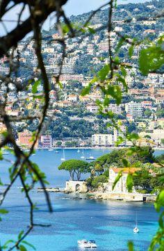 The view from the Villa Ephrussi de Rothschild in St. Jean Cap Ferrat. France.