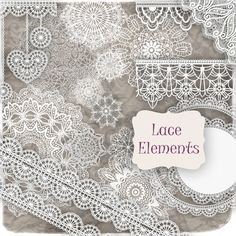 21 PNG Clipart Lace Elements for Digital Scrapbooking Commercial Use. $3.00, via Etsy.