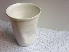 Ceramic plastic cup