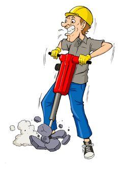 Funny cartoon builders vector illustration 12