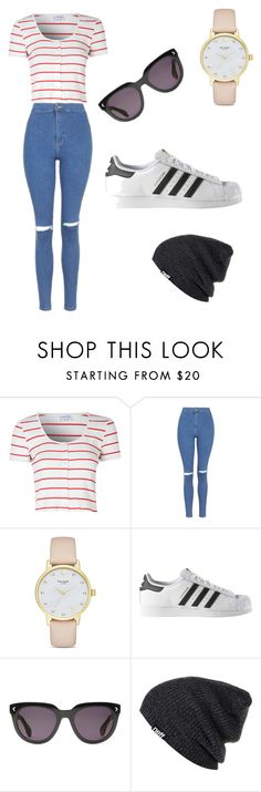 """Untitled #42"" by talia-rothschild ❤ liked on Polyvore featuring Glamorous, Topshop, Kate Spade, adidas, Stella & Dot and Neff"