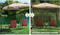 Wilson & Fisher® Offset 8.5' Square Umbrella with Removable Netting from Big Lots $179.99>