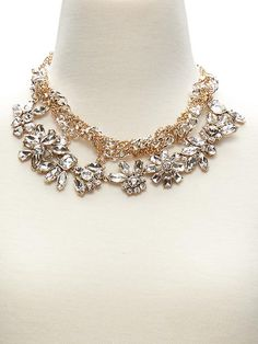Braided Crystal Necklace | Banana Republic