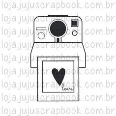 Carimbo Modelo Polaroid Love - Coleção Picnic   JuJu Scrapbook - JuJu  Scrapbook 9ecef03aca