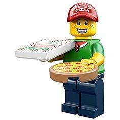 Buy LEGO Pizza Delivery Man Set from This LEGO Collectable Minifigures set contains 3 pieces including 1 minifig. Minifigura Lego, Lego Age, Lego Minecraft, Lego Star, Lego Disney, Disney Mickey, Lego Minifigure, Lego Ninjago, Lego News