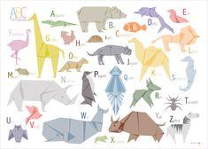 """ABC Poster """"Tierbande"""""""