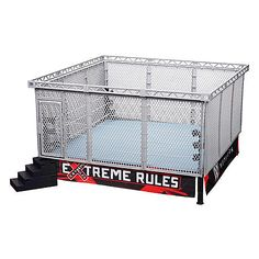 WWE (All-in-One-Combo) Authentic Scale Ring w/ Modern Day Steel Cage Accessory - Toy Wrestling Action Figure Ring & Playset Figuras Wwe, Wwe Accessories, Wrestling Party, Cage Tattoos, Wwe Toys, Steel Cage, Wwe Action Figures, Wwe Roman Reigns, Wwe Womens