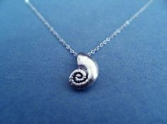 The Little Mermaid, Ariel's Voice Shell, Sterling Silver, necklace from artfire.com