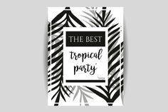 Tropical Party Invitation by @Graphicsauthor