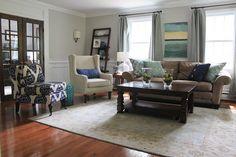 meg & the martin men: Living Room Reveal
