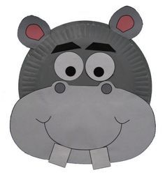 animal crafts | dltk s crafts for kids paper plate hippo craft