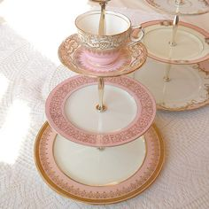 pink_gold_cupcake_Stand_3_tier_wedding_cake_plate_tray_sweets_table_display_candy_bar_buffet_centerpiece | Flickr - Photo Sharing!
