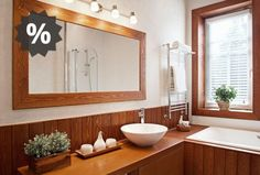 These modern wooden mirror designs changes the total look of your room. Here are our 10 simple & best wooden mirror designs in Bathroom Wall Sconces, Wooden Bathroom, Bathroom Light Fixtures, Bathroom Lighting, Bathroom Vanities, Bathroom Flooring, Bathroom Furniture, Wooden Furniture, Modern Master Bathroom