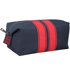 94f719ed686e Toiletry Cosmetic Bag Shaving Dopp Kit Navy Blue with Stripes – Travel  Organizer Designer Wash Bag for Men   br  br  b Toiletry Bag Inspired by  American ...
