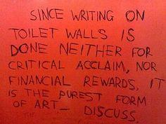 bathroom wall graffiti