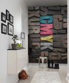 Product image for Wall mural Woodcut, CMYK