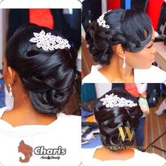Nigerian Wedding Presents 30+ Gorgeous Bridal Hairstyles By Charis Hair.....Be…