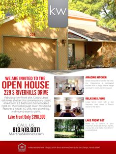 open house flyer | House for sale | Pinterest | Flyers, Open house ...