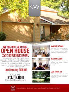 Real Estate Open House Flyer Template | DTP ideas | Pinterest ...