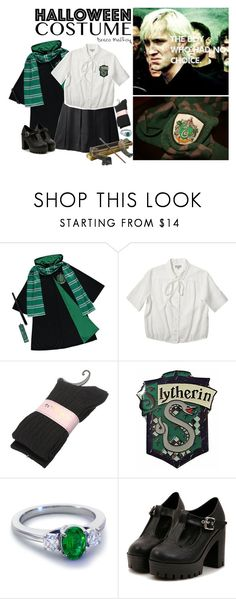 """""""Halloween costume: Draco Malfoy"""" by luminoussuga ❤ liked on Polyvore featuring George, Margaret Howell and Blue Nile"""