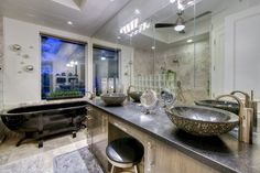 Contemporary Master Bathroom with Ceiling fan & Freestanding in Phoenix, AZ | Zillow Digs