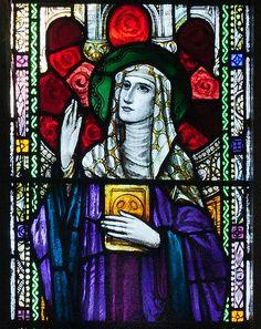 15 January - Feast Day - St Ita Ballylooby Church of Our Lady and St. Kieran North Transept East Window Detail Saint Ita 2012 09 08.jpg
