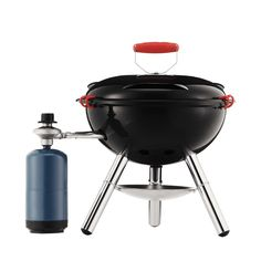 FYRKAT Picnic gas grill, propane regulator Black